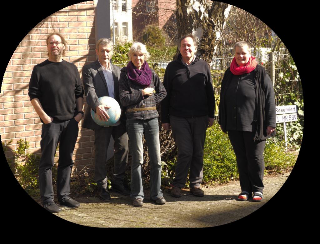 Der Vorstand 04/2020: Von links: 2. Vorsitzender: Harald Mücke, 1. Vorsitzender: Erich J. Conradi, Schriftführerin: Carmen Loger,  Kassenwart: Holger Nitschmann - Assistentin des Vorstands: Karin Braun